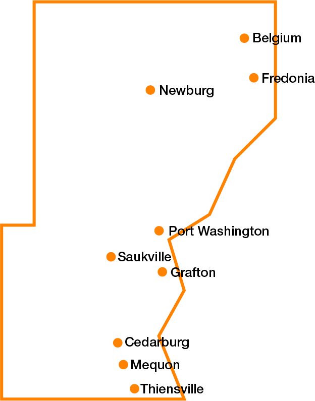 Clickable map of county